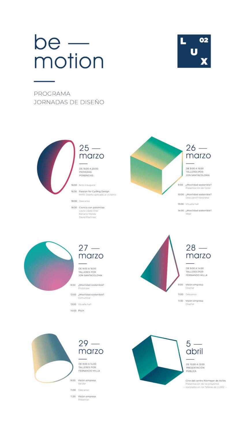 """Presentación Proyectos Jornadas de Diseño """"Lux02: be motion"""""""